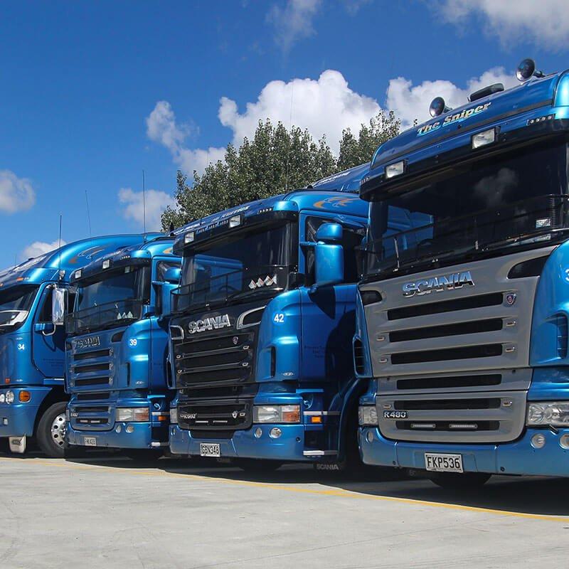 Brasuch truck fleet all lined up